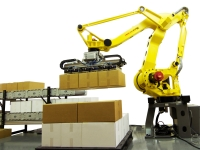 The M410iC185 palletising robot is quick and easy to install and comes with 15+ gripper