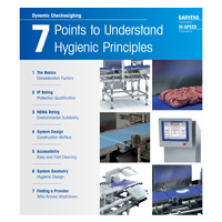 Hygienic principles for checkweighers in harsh production environments